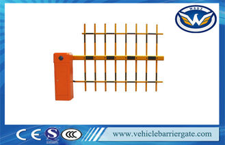 ประเทศจีน Customized Auto Reverse Automatic Car Park Barriers With 3 Fence Arm ผู้ผลิต