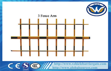 ประเทศจีน 3 Fence Arm Aluminum Alloy Boom For Automatic Car Parking Barrier Gate ผู้ผลิต